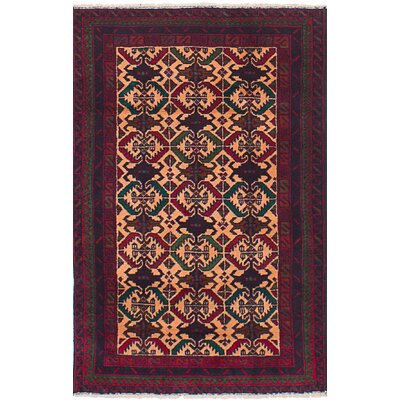 One-of-a-Kind Euler Hand-Knotted Wool Red/Salmon Area Rug