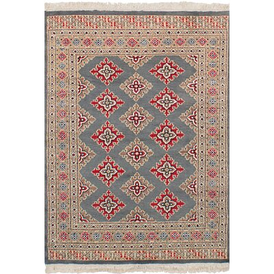 One-of-a-Kind Etting Hand-Knotted Wool Gray Area Rug