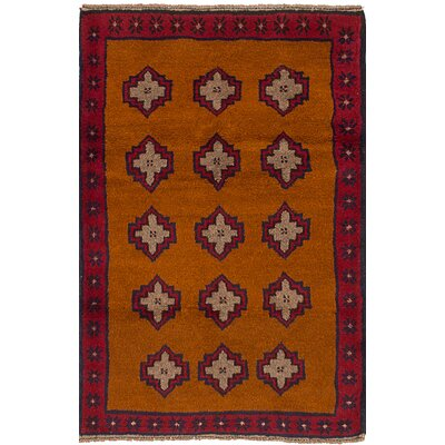 One-of-a-Kind Pagan Hand-Knotted Wool Light Brown Area Rug