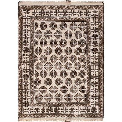 One-of-a-Kind Chalone Hand-Knotted Wool Cream Area Rug