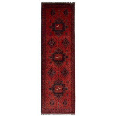 One-of-a-Kind Eure Hand-Knotted Wool Red Area Rug