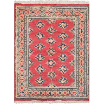 One-of-a-Kind Etting Hand-Knotted Wool Light Red Area Rug