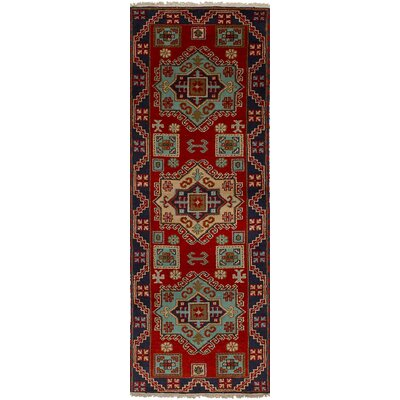 One-of-a-Kind Etzel Hand-Knotted Red Area Rug