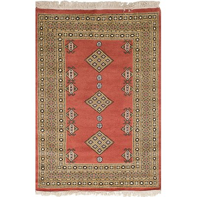 One-of-a-Kind Etting Hand-Knotted Wool Dark Copper Area Rug