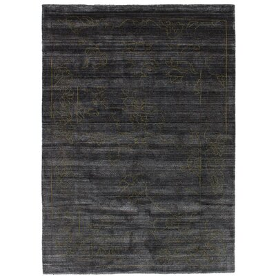 One-of-a-Kind Eurich Hand-Knotted Wool Dark Gray Area Rug