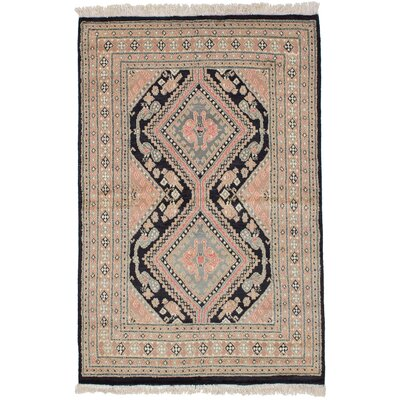 One-of-a-Kind Etting Hand-Knotted Wool Tan Area Rug