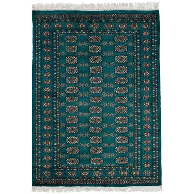One-of-a-Kind Etter Hand-Knotted Wool Dark Teal Area Rug