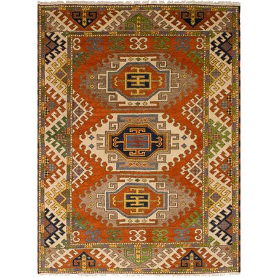 One-of-a-Kind Etzel Hand-Knotted Wool Dark Copper Area Rug