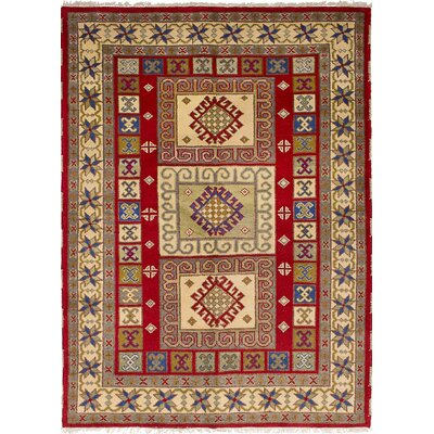 One-of-a-Kind Etzel Hand-Knotted Wool Red Area Rug