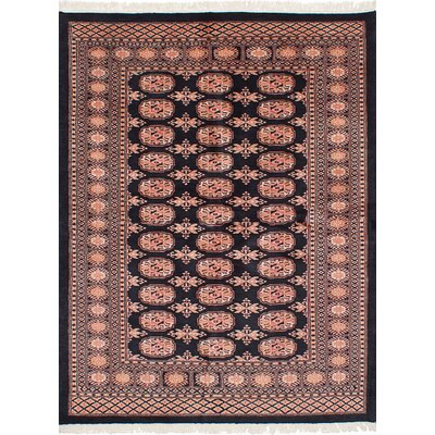 One-of-a-Kind Etter Hand-Knotted Wool Black Area Rug