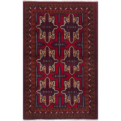 One-of-a-Kind Euler Hand-Knotted Wool Red Area Rug
