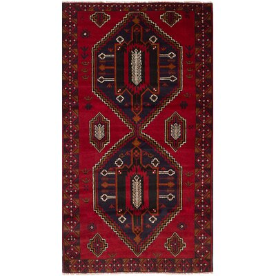 One-of-a-Kind Eusebio Hand-Knotted Wool Red Area Rug