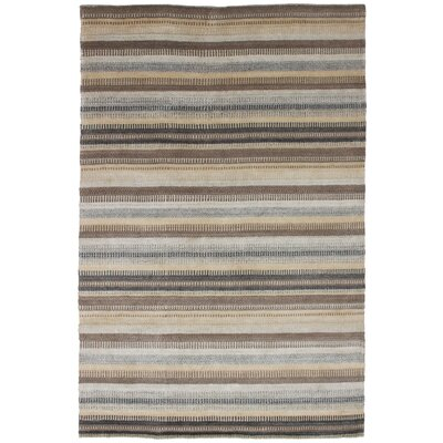 One-of-a-Kind Eurich Hand-Knotted Wool Brown/Light Gray Area Rug