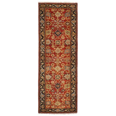 One-of-a-Kind Etna Hand-Knotted Wool Red Area Rug