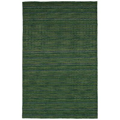 One-of-a-Kind Eurich Hand-Knotted Wool Green Area Rug