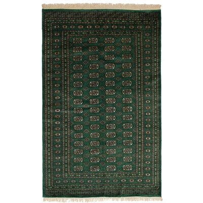 One-of-a-Kind Etter Hand-Knotted Wool Green Area Rug