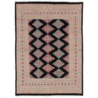 One-of-a-Kind Etting Hand-Knotted Wool Black Area Rug