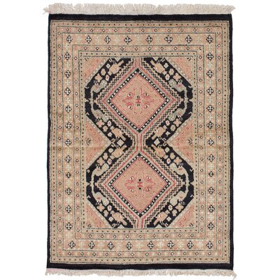 One-of-a-Kind Etting Hand-Knotted Wool Beige Area Rug