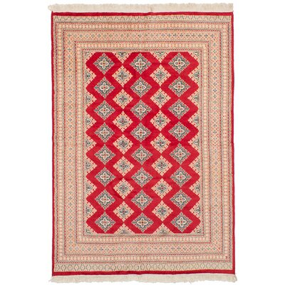 One-of-a-Kind Etting Hand-Knotted Wool Red Area Rug