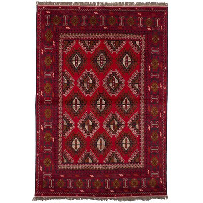One-of-a-Kind Eubank Hand-Knotted Wool Red Area Rug