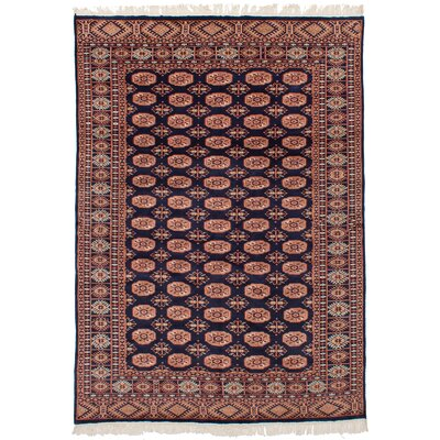 One-of-a-Kind Etter Hand-Knotted Wool Dark Navy Area Rug