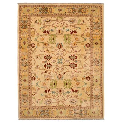 One-of-a-Kind Bendel Hand-Knotted Wool Cream Area Rug