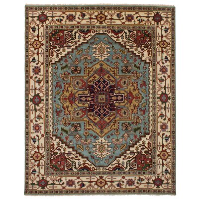 One-of-a-Kind Etna Hand-Knotted Wool Light Blue Area Rug
