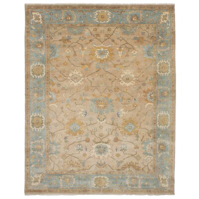One-of-a-Kind Eudy Hand-Knotted Wool Tan Area Rug