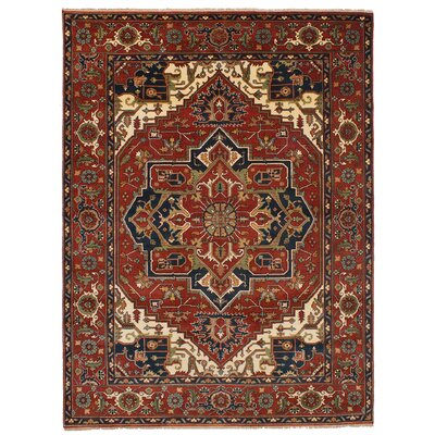 One-of-a-Kind Etna Hand-Knotted Wool Dark Red Area Rug