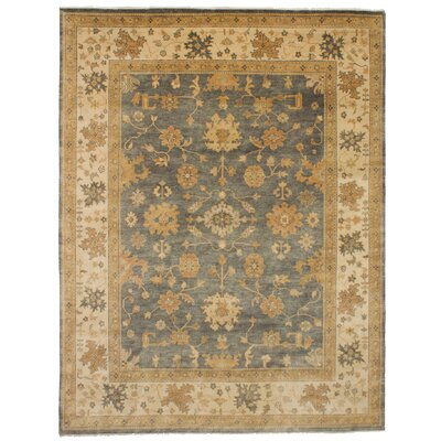 One-of-a-Kind Eudy Hand-Knotted Wool Dark Gray Area Rug