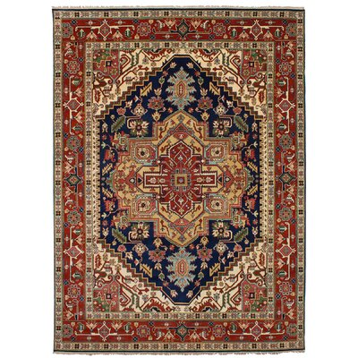 One-of-a-Kind Etna Hand-Knotted Wool Dark Navy Area Rug
