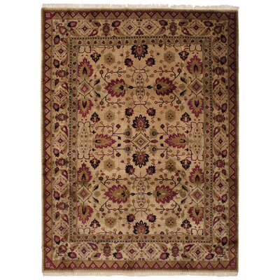 One-of-a-Kind Mastro Hand-Knotted Wool Beige Area Rug