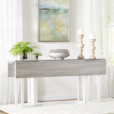 Adams Extendable Dining Table Finish: Weathered Gray/White