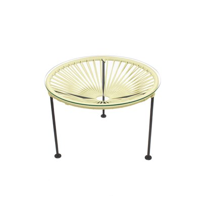 Image of Cobby End Table Table Base Color: Black, Table Top Color: Ivory