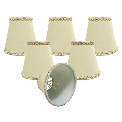5 Silk/Shantung Candelabra Shade Color: Beige
