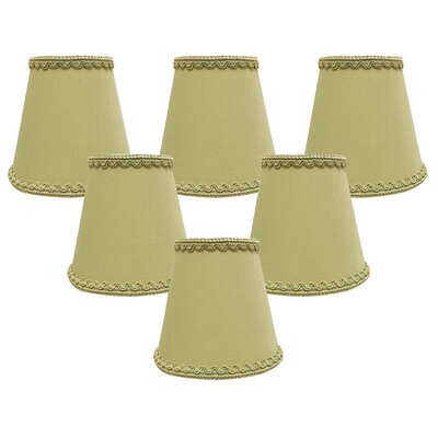 5 Silk/Shantung Candelabra Shade Color: Gold
