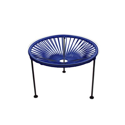 Cobby End Table Table Base Color: Black, Table Top Color: Deep Blue