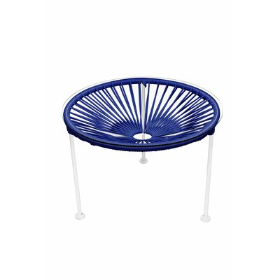 Cobby End Table Table Base Color: White, Table Top Color: Deep Blue