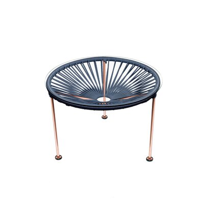 Cobby End Table Table Base Color: Copper, Table Top Color: Gray