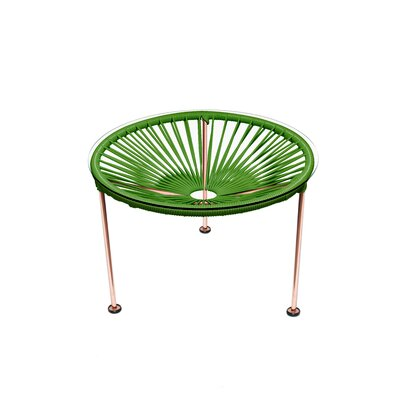 Cobby End Table Table Base Color: Copper, Table Top Color: Cactus