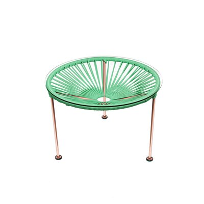 Cobby End Table Table Base Color: Copper, Table Top Color: Mint