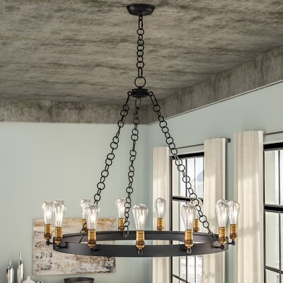 Harpa 14-Light Candle-Style Chandelier Bulb Type: MB
