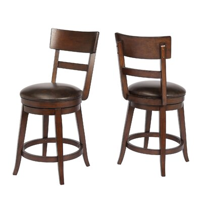 Caskey 24 Swivel Bar Stool Frame Color: Walnut