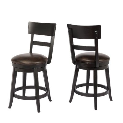 Caskey 24 Swivel Bar Stool Frame Color: Black