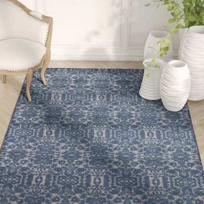 Paden Dark Blue Indoor/Outdoor Area Rug Rug Size: 52 x 72