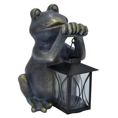 Cragin Decorative Resin Frog with Lantern Figurine 5F16F0BE0CAF4D9A9989F7E2AE86D42A