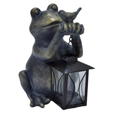 Craighead Decorative Resin Frog with Lantern Figurine C320E390CB704824817F030758DA49A3