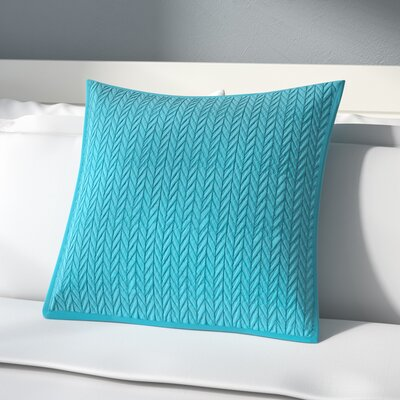 Brott Contemporary Solid Soft Sham Size: Euro, Color: Turquoise