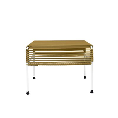 Cobbey Cocktail Ottoman Finish: White/Gold