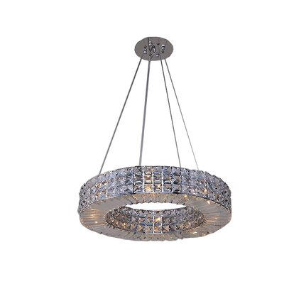 Mcdowell Glam 4-Light LED Crystal Pendant